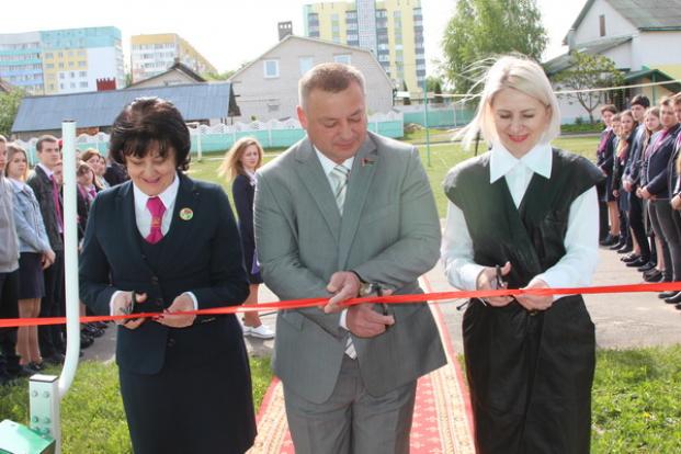 Открытие тренажерного комплекса в Речицком лицее
