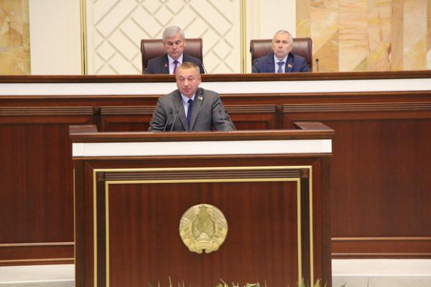 Выступление   Стельмашка   С.П.  на  заседании  второй  сессии  Палаты представителей Национального собрания седьмого созыва